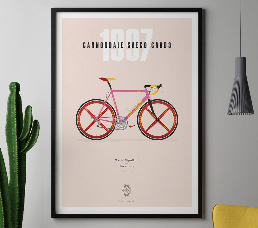 Image of Cipollini's Cannondale A3 or A4 print - by Parallax