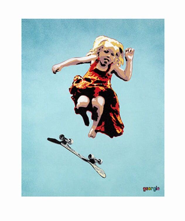 Image of Skater Girl. Giclée print.