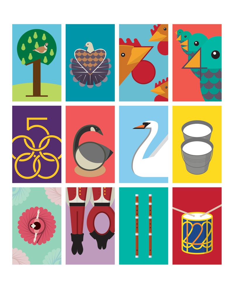 Image of 12 Days of Christmas Digital File Ready to Print