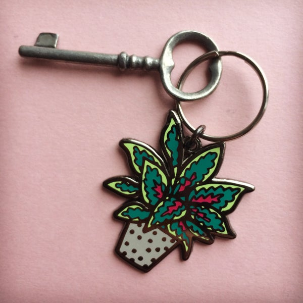 Image of LIMITED EDITION Enamel Houseplant Keyring
