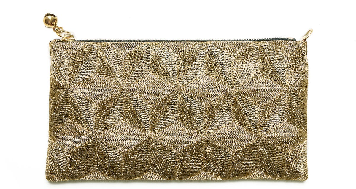 """Image of plain gold</br><span class=""""product_size"""">zip pouch small </br></span>"""