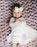 Image 3 of Baby/Girls * Plain White * Twirly Dress Long Sleeves