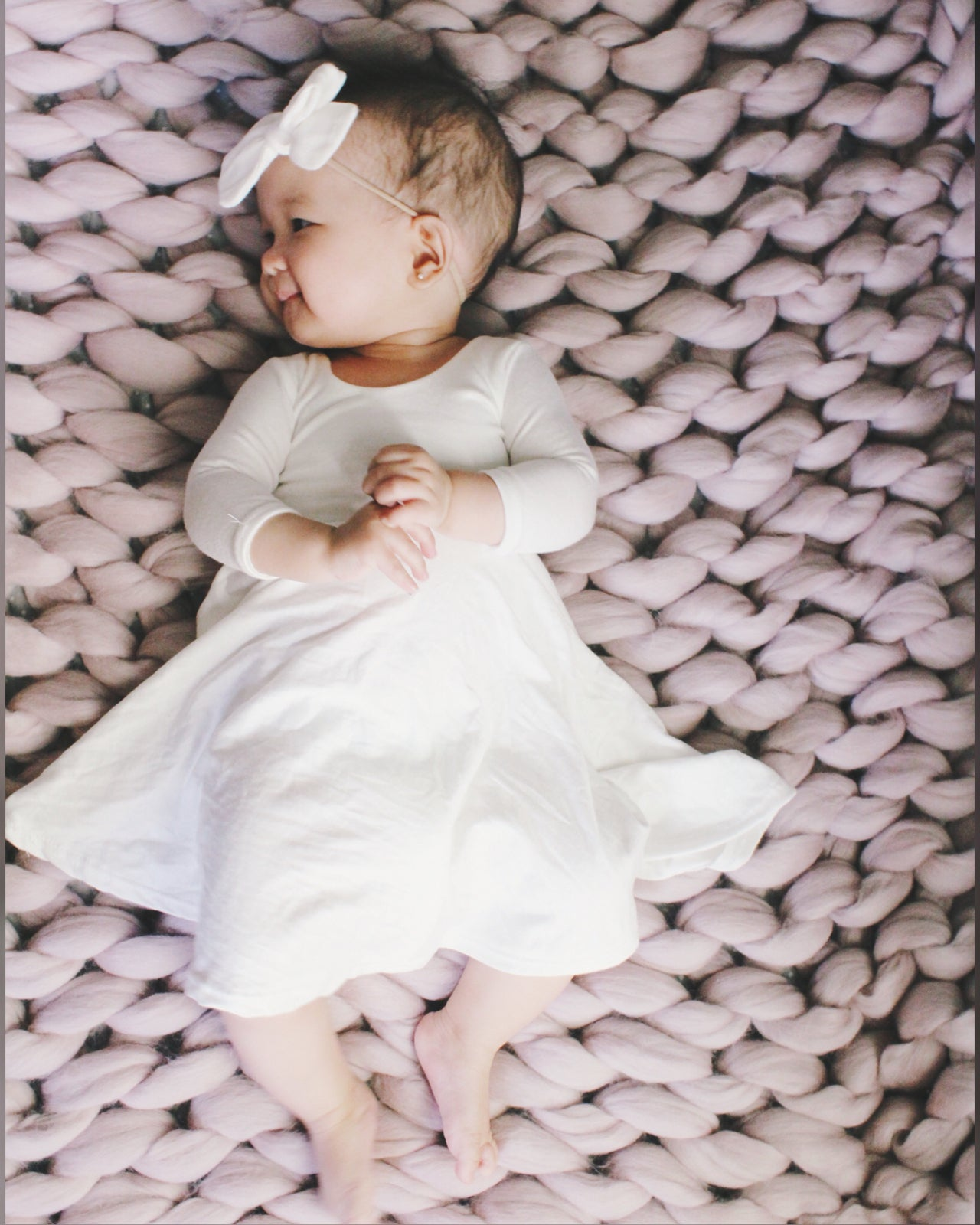 Image of Baby/Girls * Plain White * Twirly Dress Short Sleeves