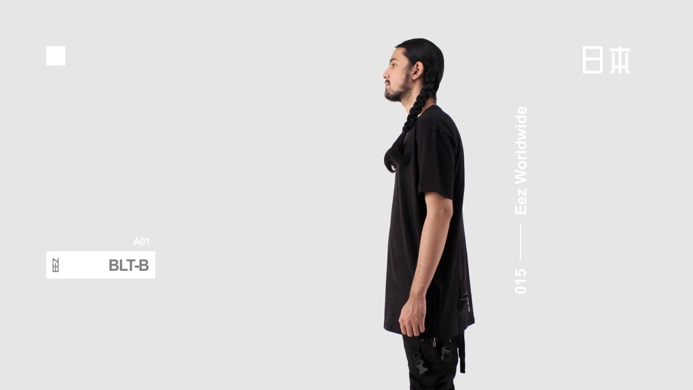 Image of Basic  Long T - Black