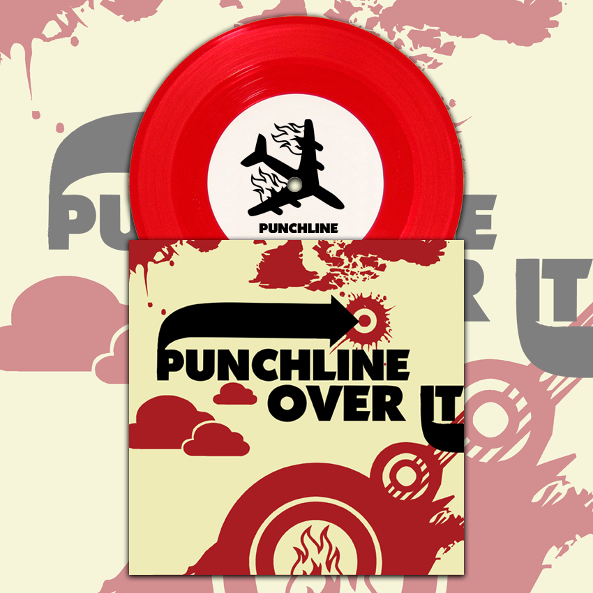 "Image of PUNCHLINE / OVER IT - Split - 7"" (vinyl) [ltd. 2000]"