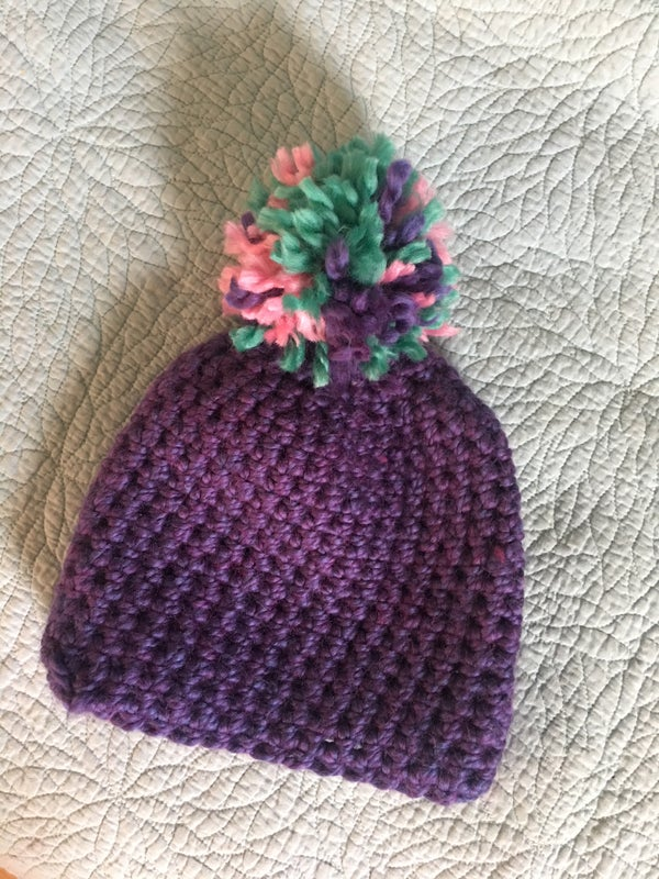 Image of Crochet Purple hat