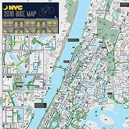 """Image of """"Ganisha."""". Original silkscreen on New York City Subway and Bike Map."""