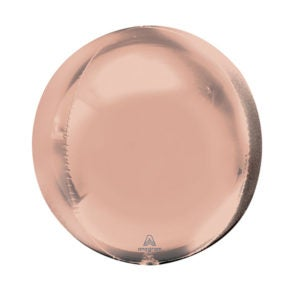 Image of Mylar Orb Rose Gold Balloon