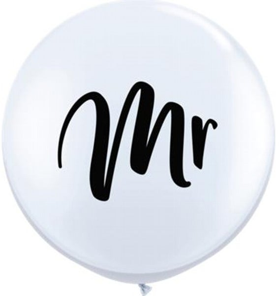 "Image of Script ""Mr"" 3 foot balloon"