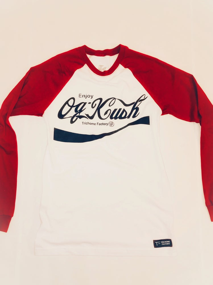 Image of OG Kush Baseball T Red Sleeve