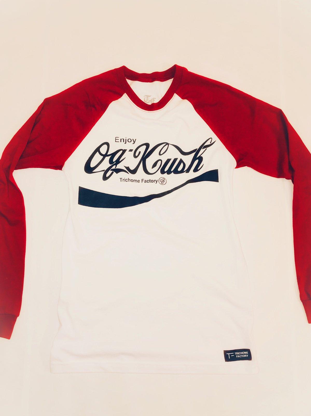Image of OG Kush Baseball T Red Sleeve