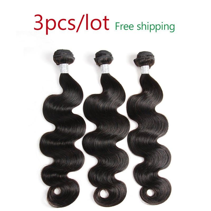 Image of 10A Mixed length 3pcs/lot different types and textures hair avaliable free shipping
