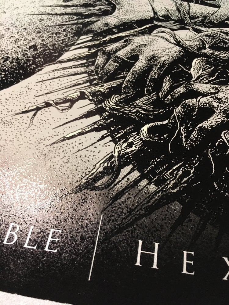 Image of BLACK TABLE   HEXIS silver edition