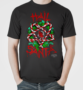 Image of HAIL SANTA T-Shirt Dare to Wear and Bleading Marvelous Exclusive LTD EDITION