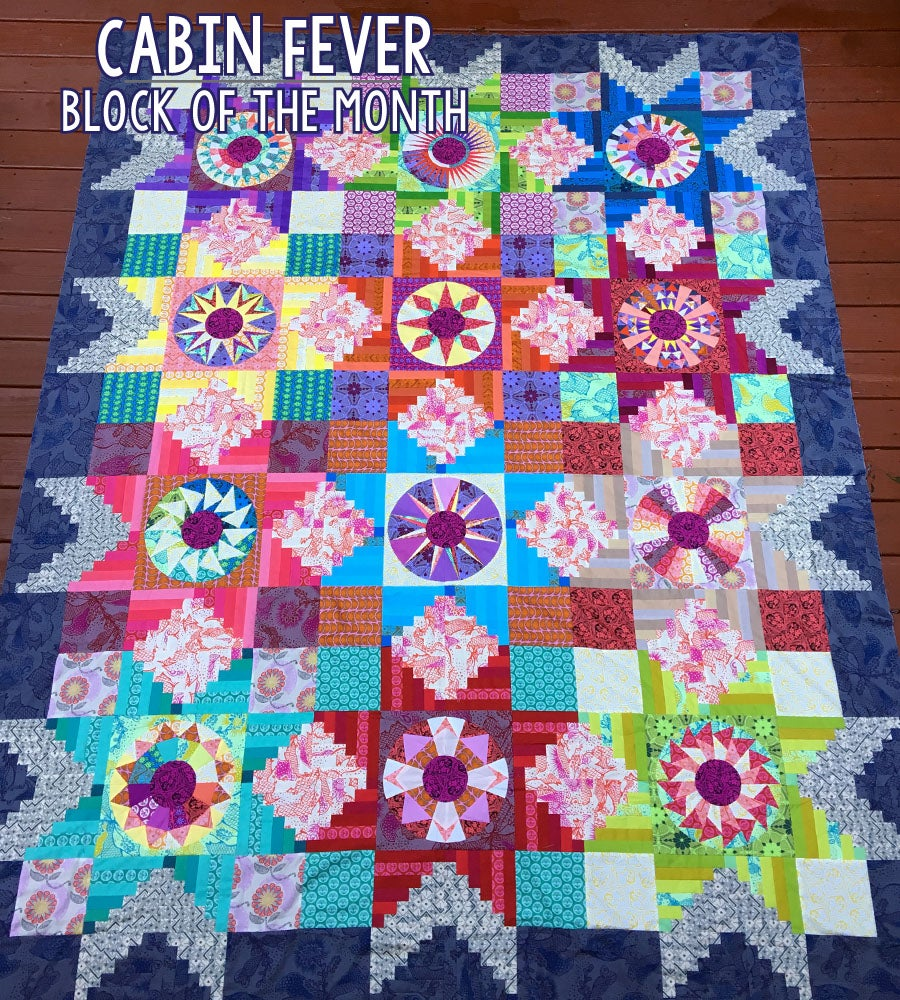 Cabin Fever Block Of The Month Quilt Pattern Patterns