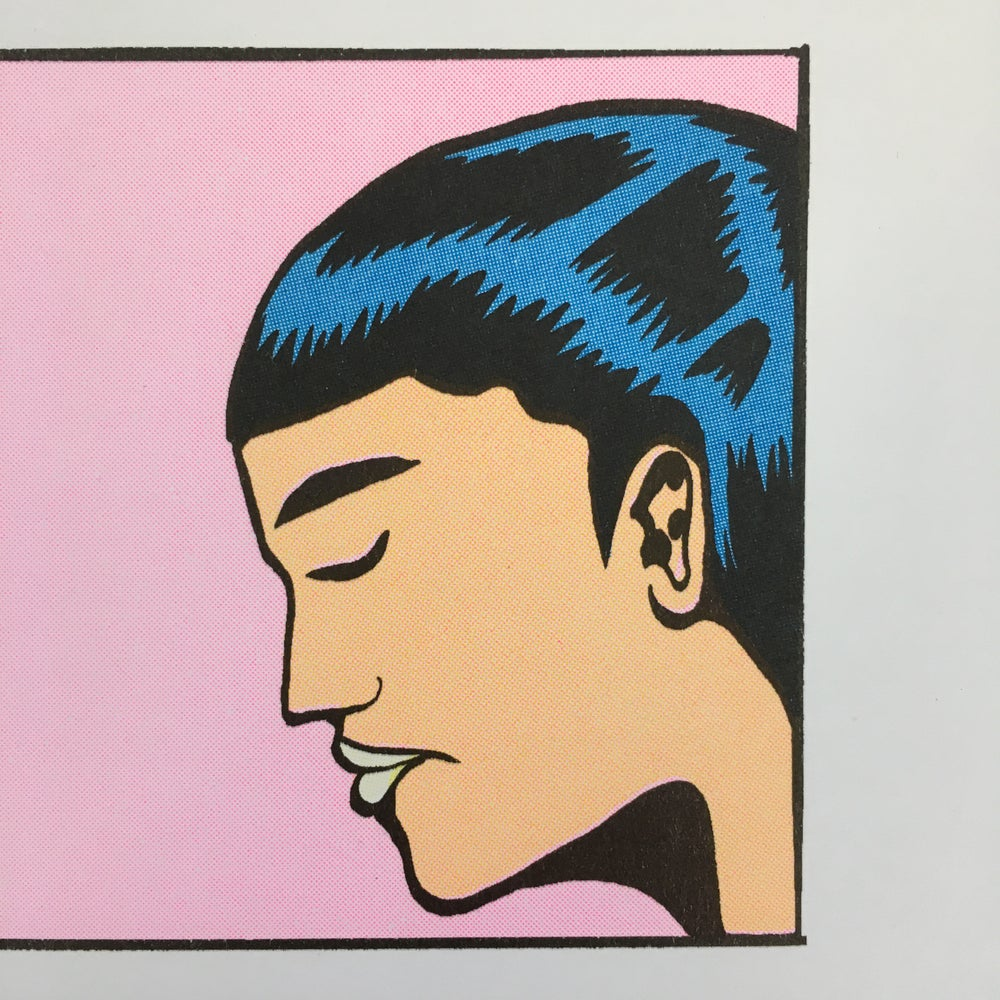 "Image of ""THE KISS"" LIMITED EDITION A3 RISOGRAPH PRINT"