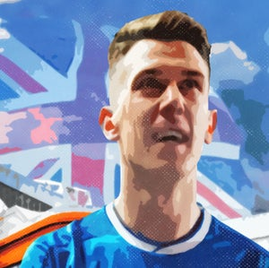 Image of Ryan Jack, Rangers, Ibrox Union Flag Canvas