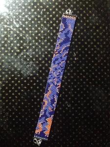 Image of Bracelet tissé Miyuki numéro 6-bracelet loom Miyuki 6 wristband