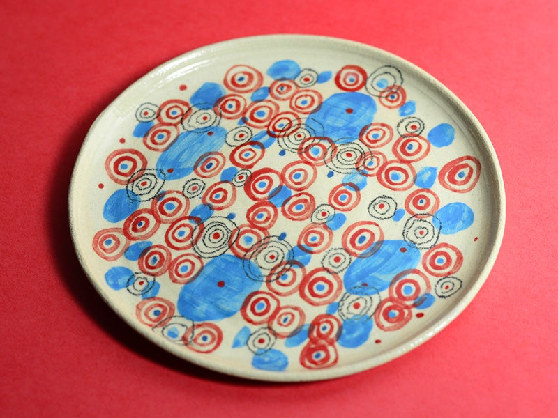 Image of Big Blue and Red Circles Plate