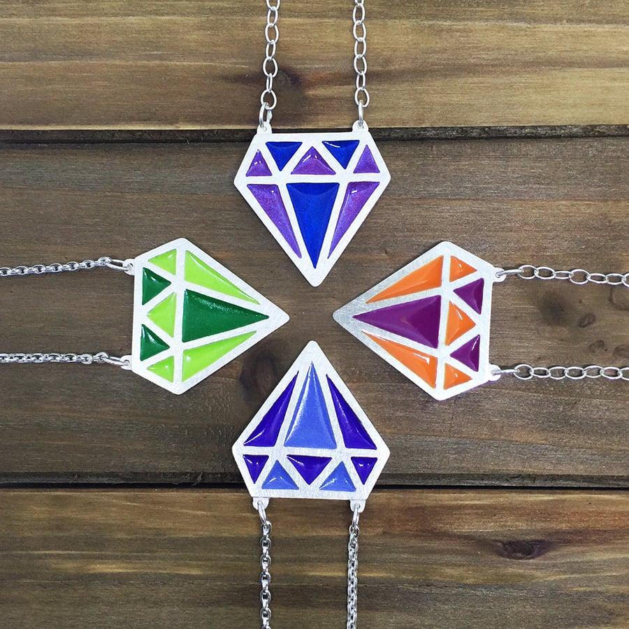 Image of Gemstone Color Necklace