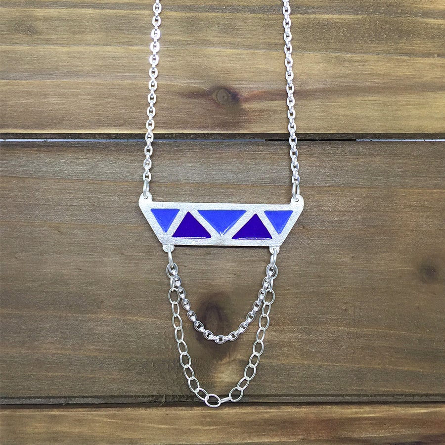 Image of Triangles Color Necklace