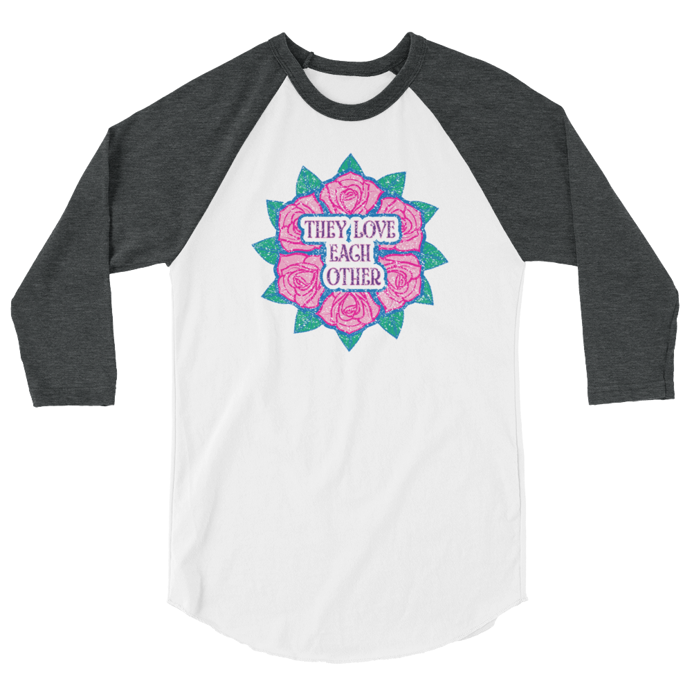 They Love Each Other - Unisex Fine Jersey Raglan Tee