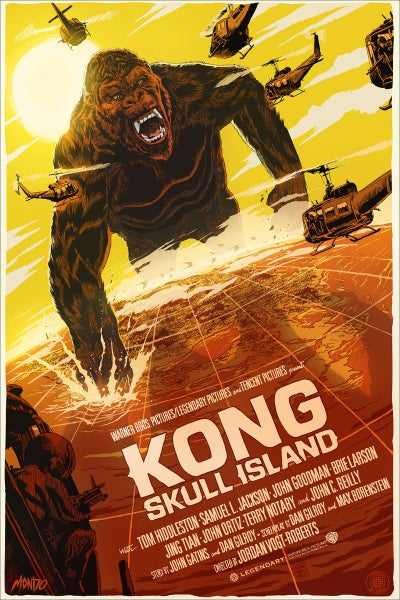 Image of Kong Skull Island Mondo Screen Print Variant Artist Proof