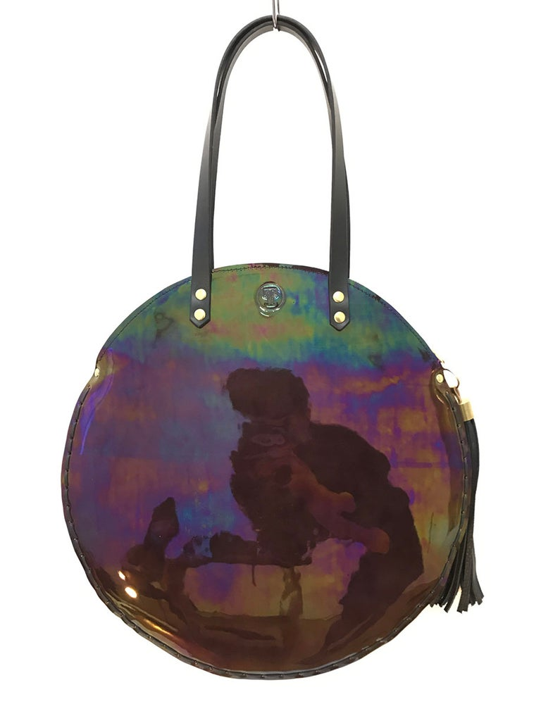 Image of Le Monde in Oil-slick patent leather