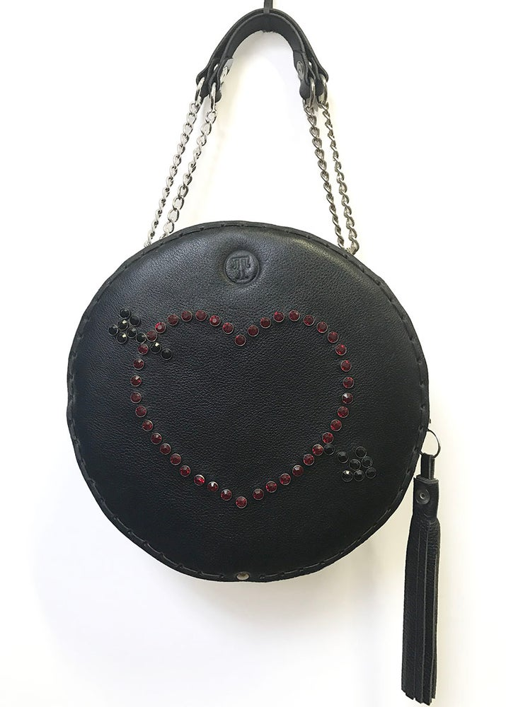 Image of Cantina bag with rhinestone heart and arrow