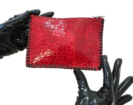 Image of Small purse in red patent leather