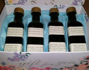 Image of Gift Box of 1 of each of the Massage & Bath oil blends