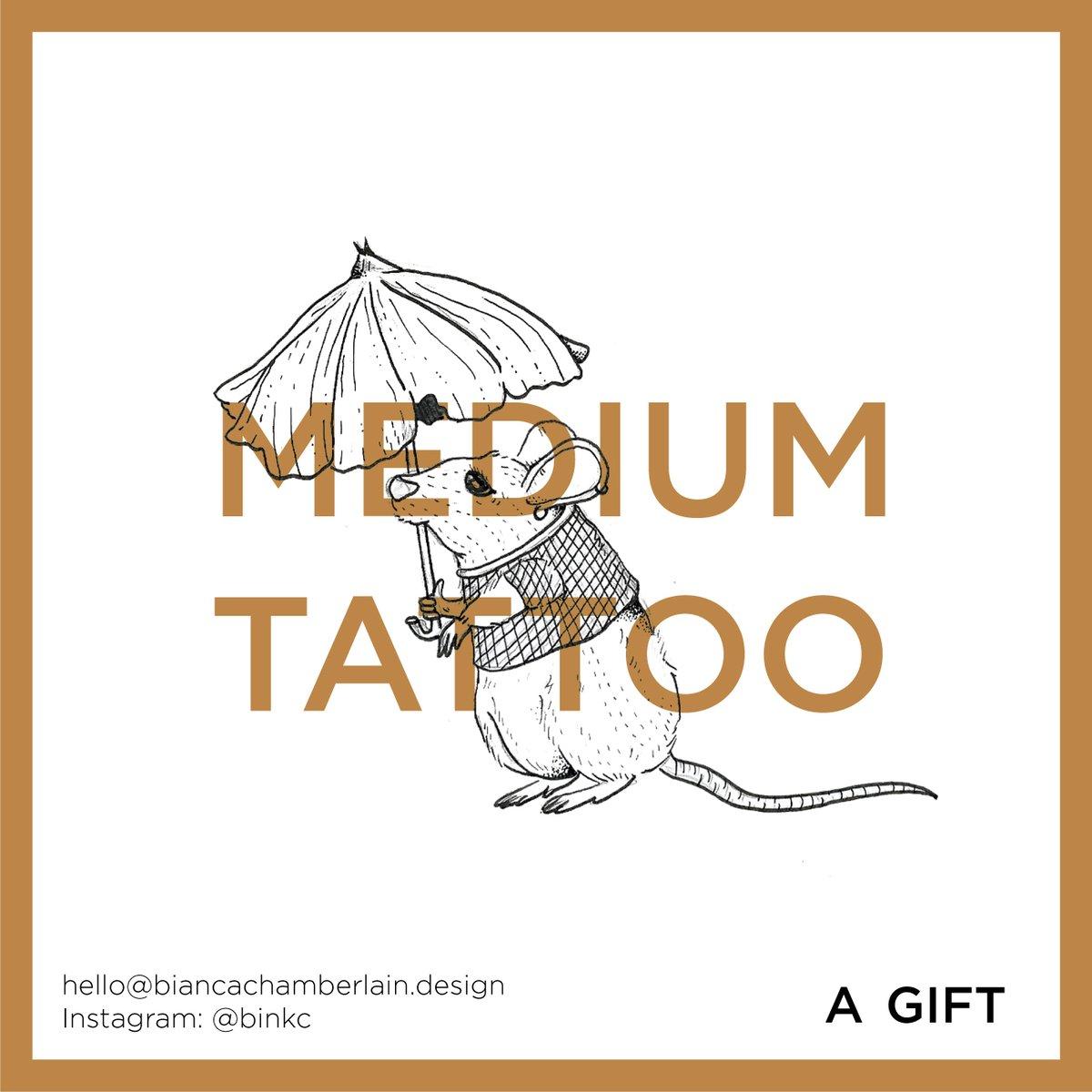 Image of Tattoo Gift Card (Medium Sized)