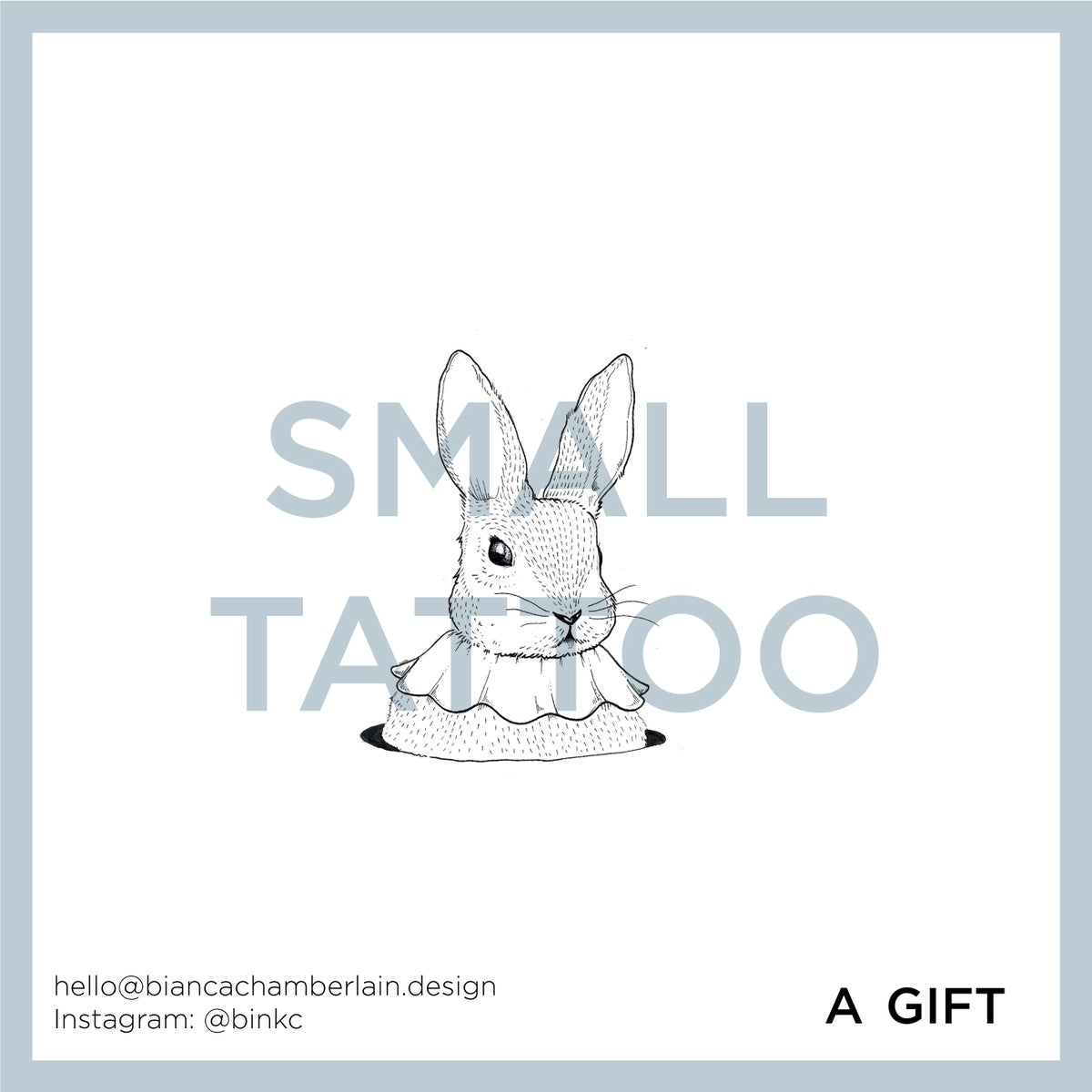 Image of Tattoo Gift Card (Small Sized)