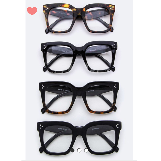Image of Square Fashion Glasses