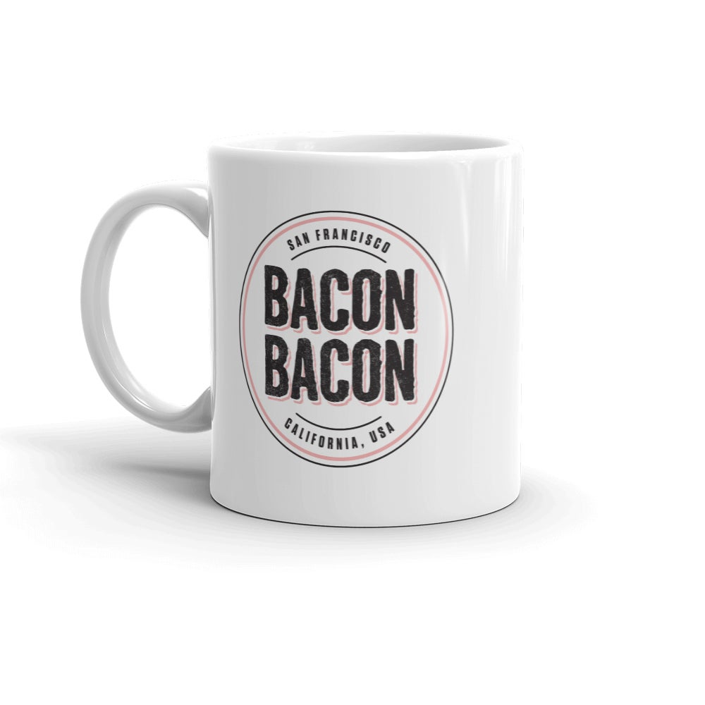 Image of Bacon Bacon Logo Coffee Mug