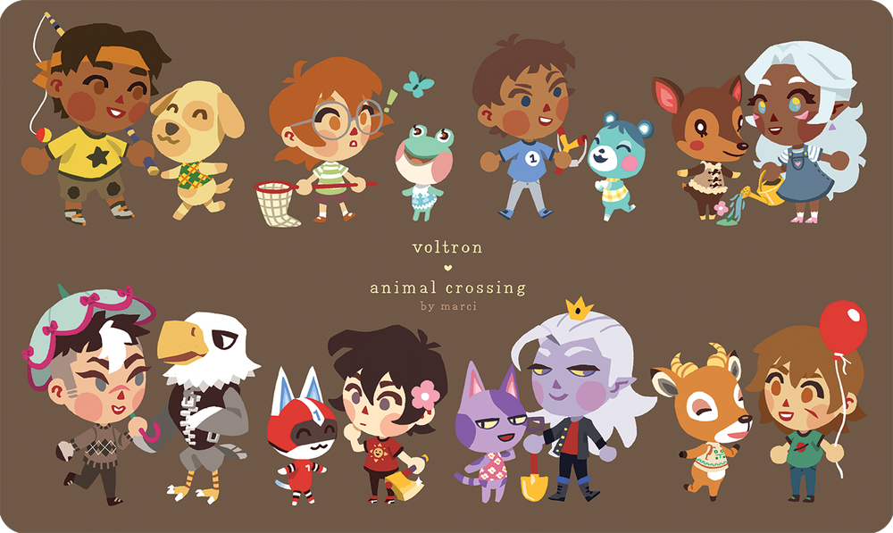 """Image of ❤ VOLTRON ❤ animal crossing x voltron 2"""" charms"""