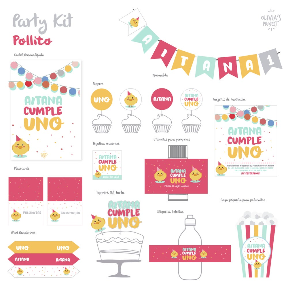 Image of Party Kit Pollito Impreso