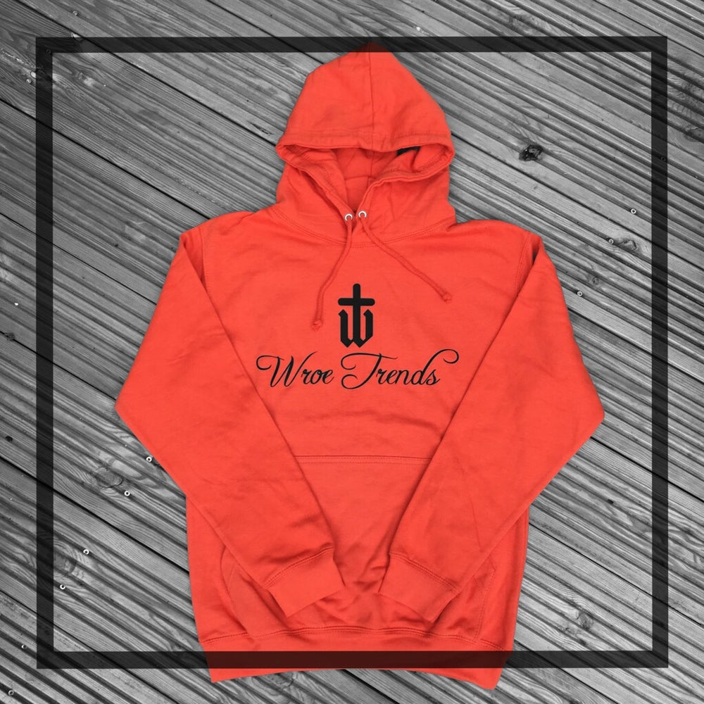 Image of CLASSIC PRINT HOODIE • BURNT ORANGE