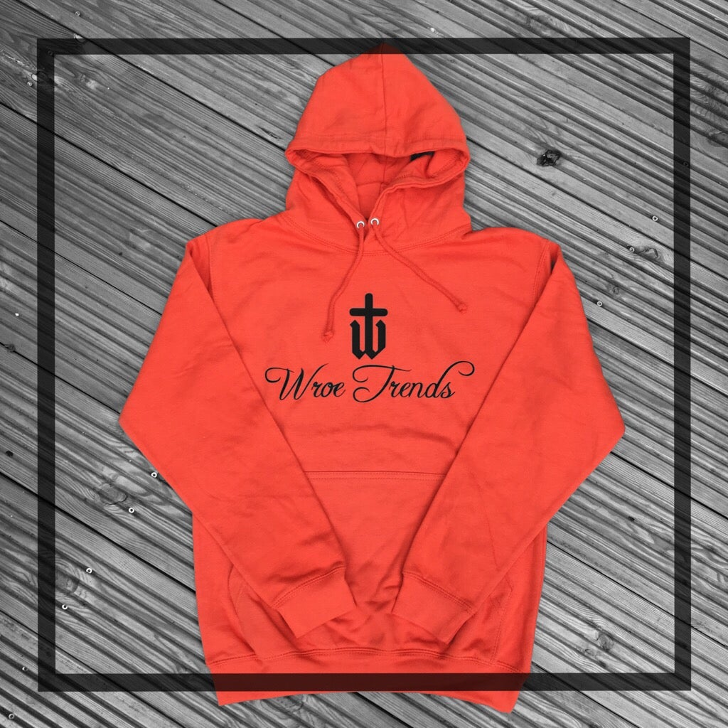 Image of ORIGINAL PRINT HOODIE • BURNT ORANGE
