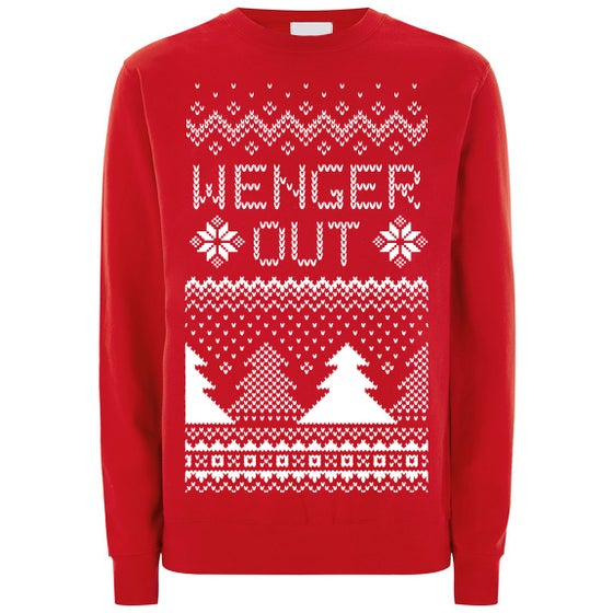 Image of Wenger Out Arsenal Long Sleeve Red Christmas Top/Jumper