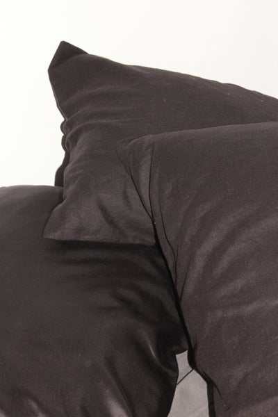 Image of 100% Linen Pillow Slip/Black