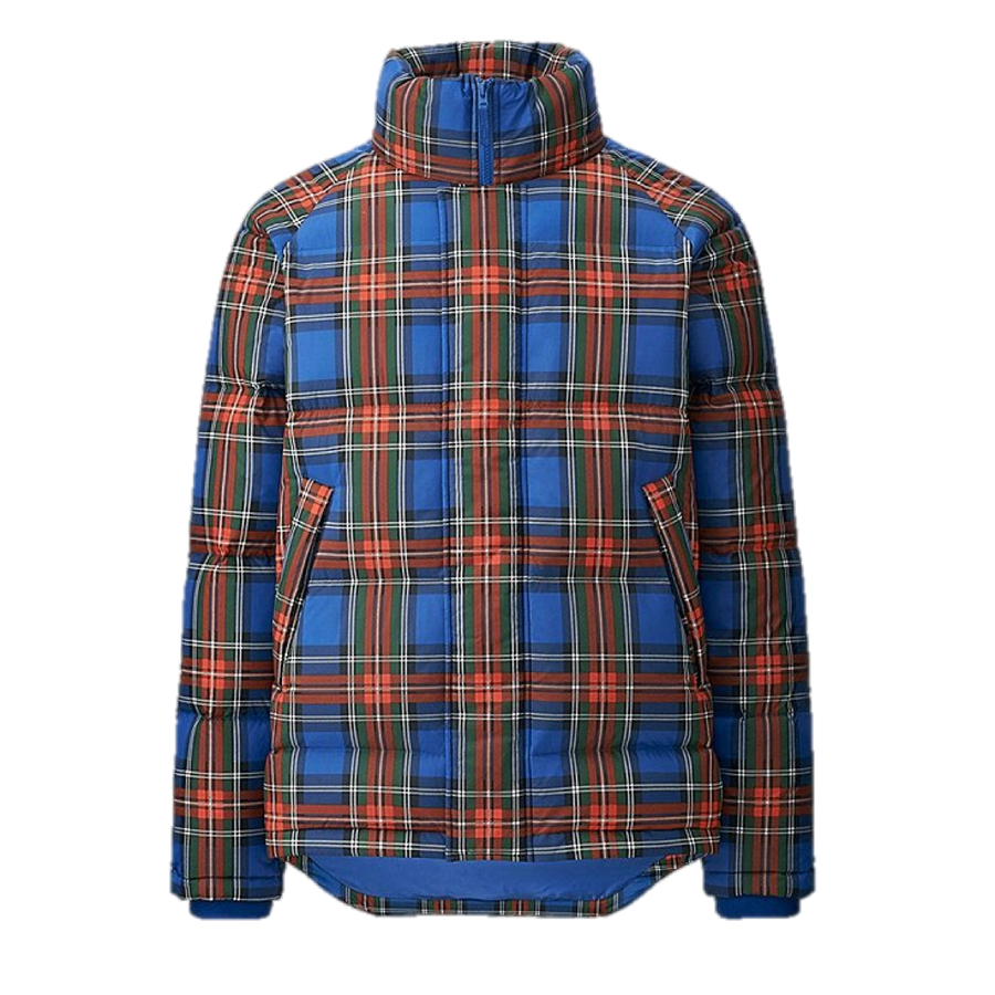 Image of J.W. ANDERSON X UNIQLO DOWN JACKET - BLUE TARTAN / NAVY 403206