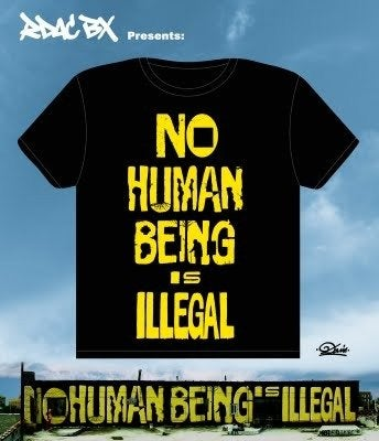 Image of No Human Being is Illegal T-shirt