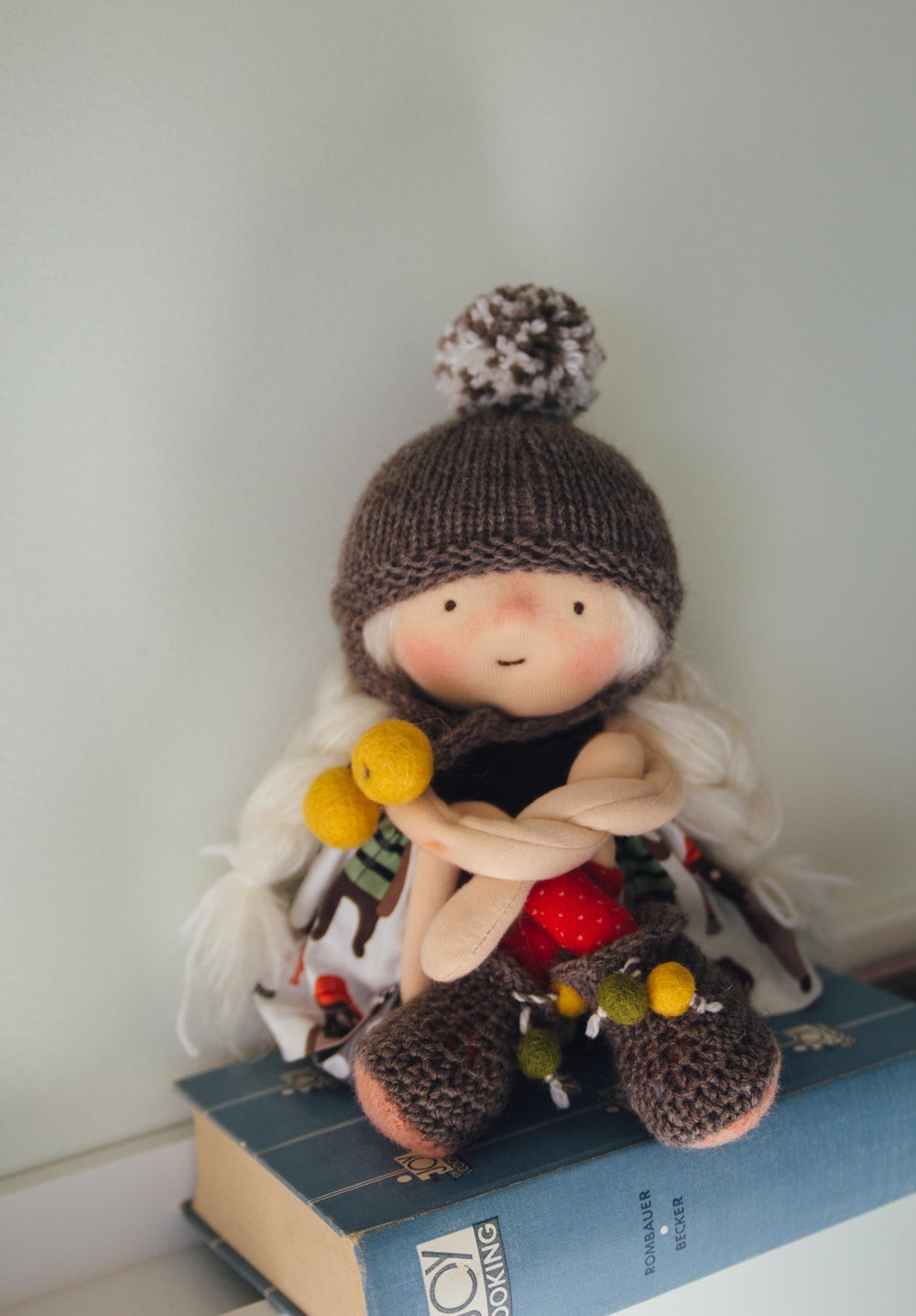 Image of Bee - Wool-filled Sculpted sock Girl