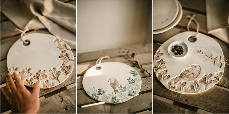 Image of Tablas de Servir Redondas. De cerámica, varios modelos. Piezas Únicas.