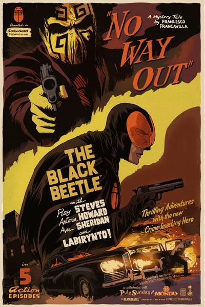 Image of The Black Beetle NO WAY OUT Mondo Screen Print APs 24x36