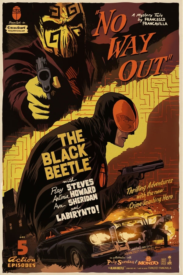 Image of The Black Beetle NO WAY OUT Mondo Screen Print Variant APs 24x36