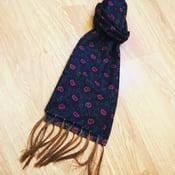 Image of Black Paisley tassel scarf