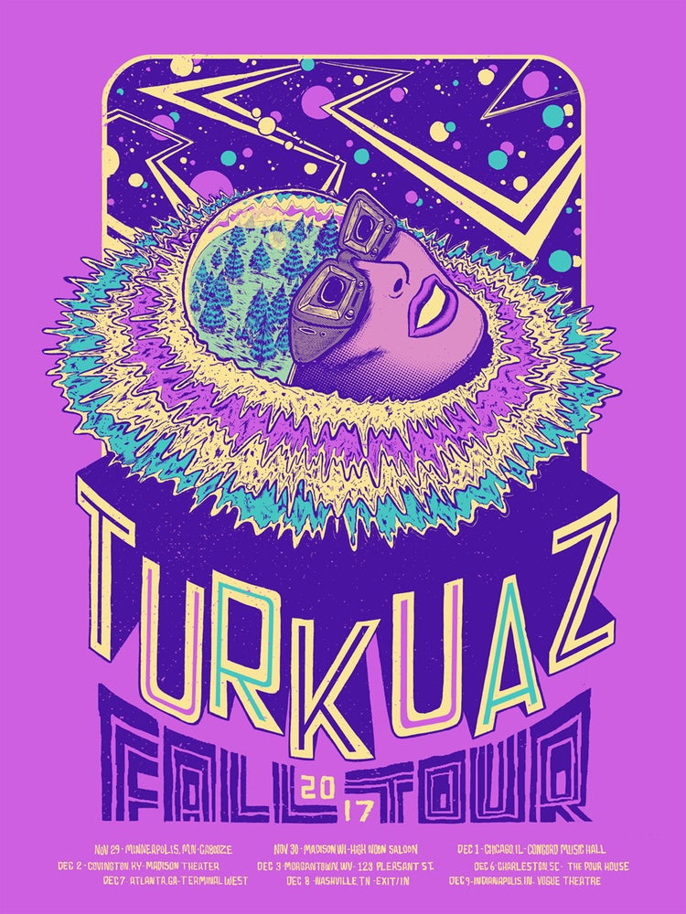 Image of Turkuaz Fall 2017 Tour Poster