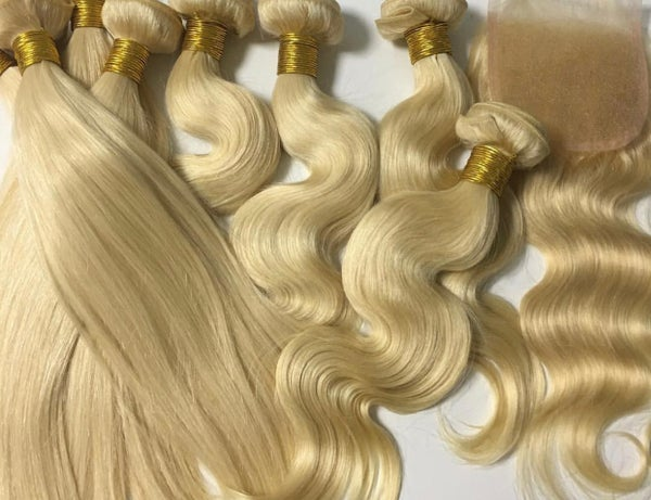 Image of Platinum Blonde Straight or Body Wave Deals